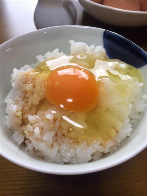 卵ごはんアップ